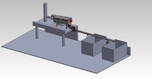 Tamis rotatif alimentation interne avec vis de compactage 3D